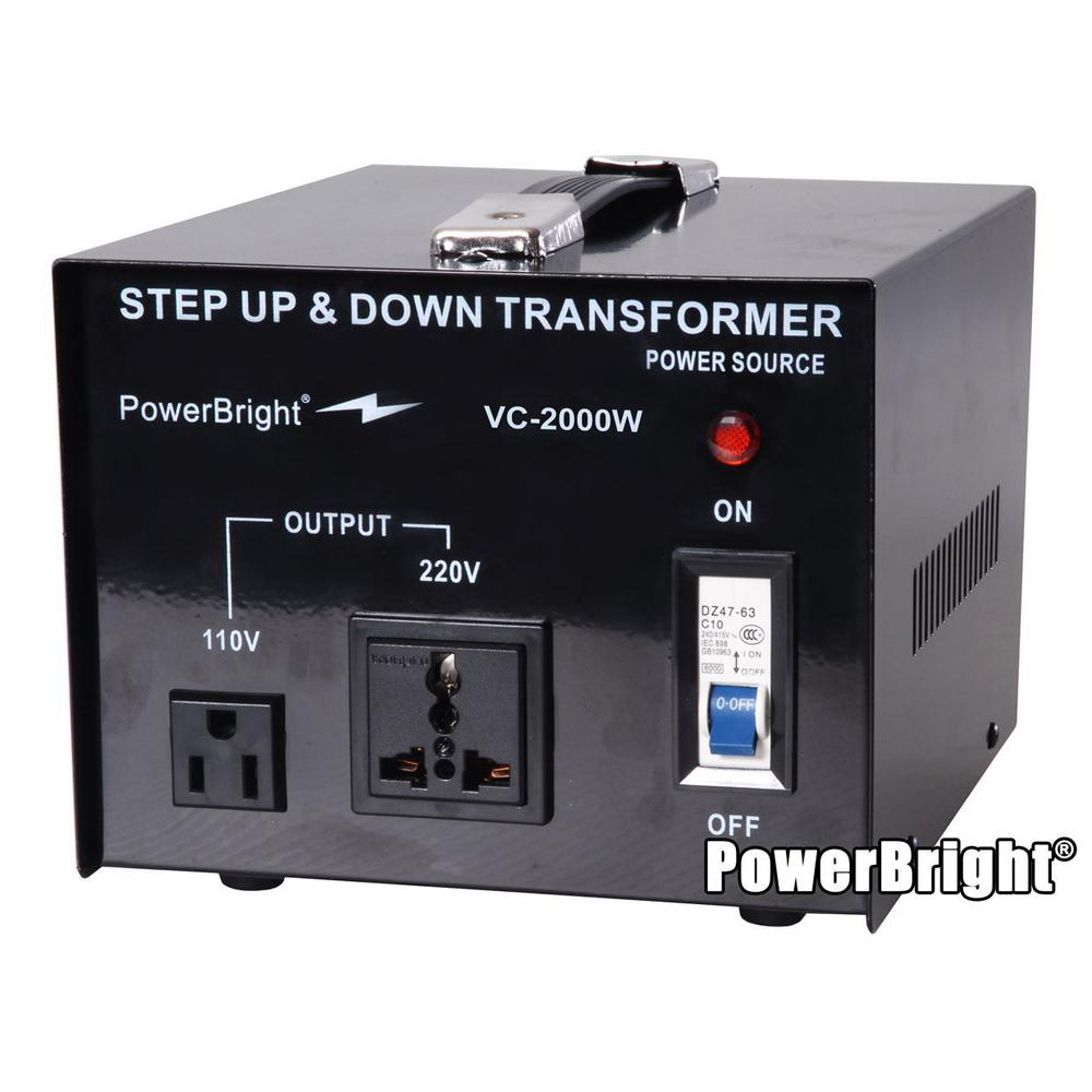 PowerBright 2000-Watts Step Up/Down Converter 110/120-Vol...