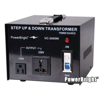 2000-Watts Step Up/Down Converter 110/120-Volt - 220/240-Volt Voltage Transformer