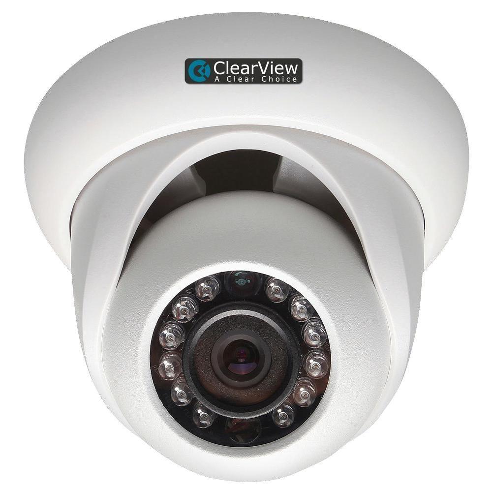Wired 1080P Indoor/Outdoor Weatherproof IP Mini-Dome Surveillance Camera with 65