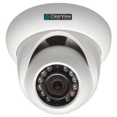 Wired 1080P Indoor/Outdoor Weatherproof IP Mini-Dome Surveillance Camera with 65 ft. IR Range