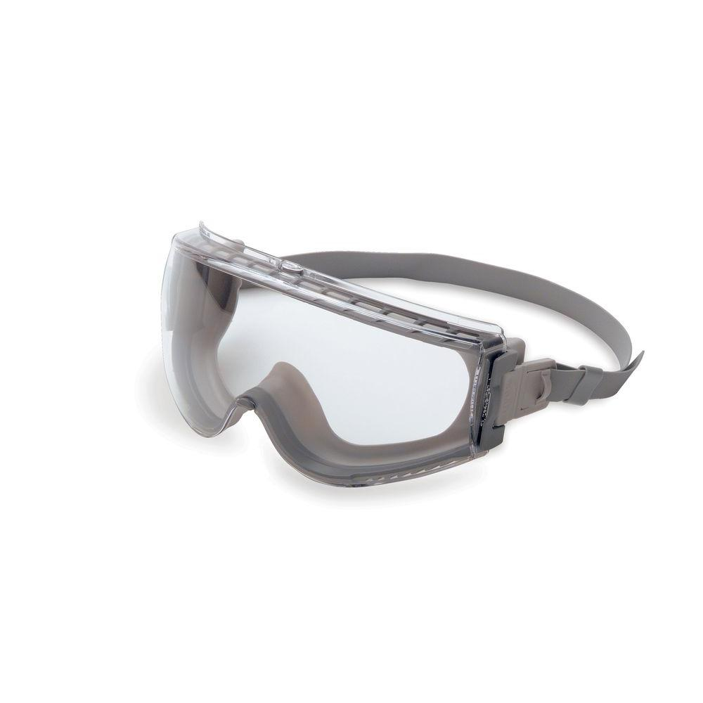 Uvex Stealth Safety Goggles with Clear Tint Uvextreme Lens,Gray and Gray Frame and Neoprene Band