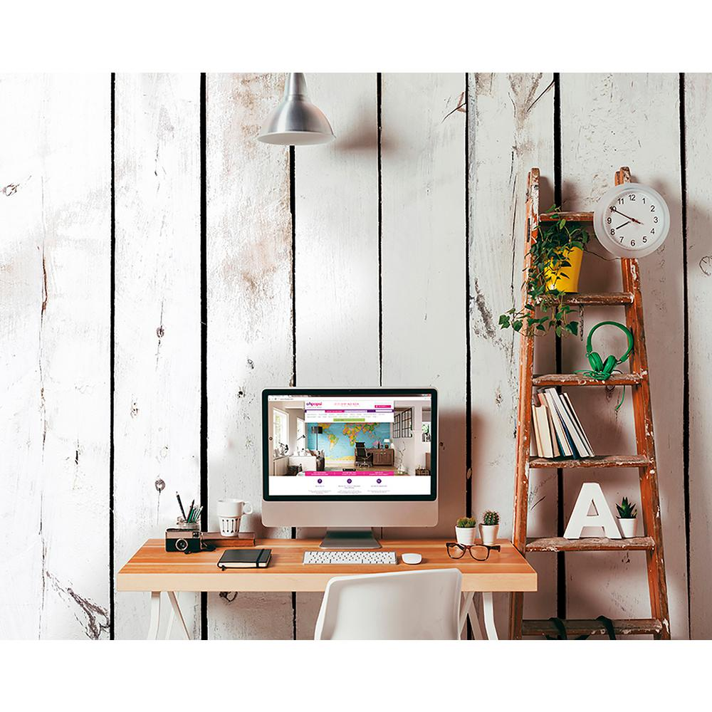 Brewster Pale Wood Wall Mural