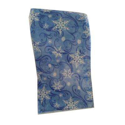 Blue Frost Polyester Patterned Throw
