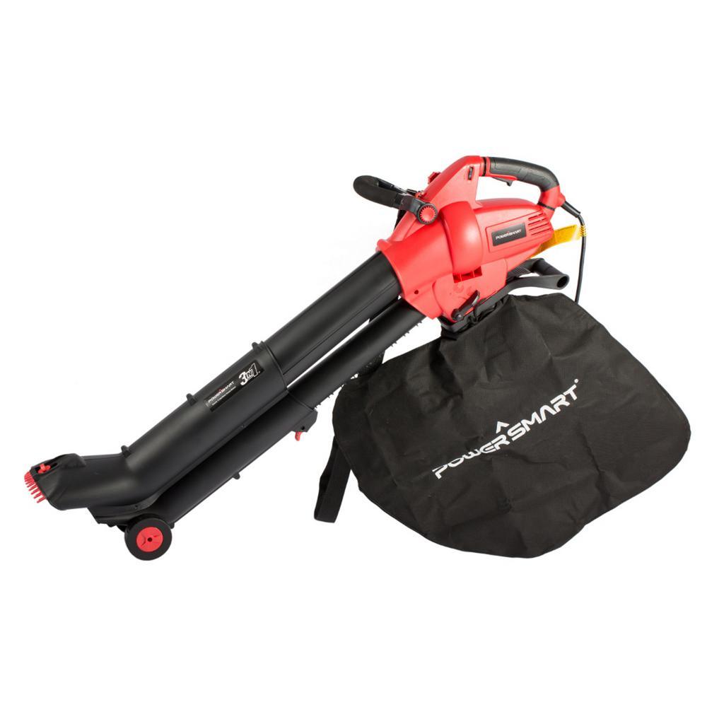 186 MPH 554 CFM 12 Amp Electric Handheld Blower/Vacuum/Mulcher