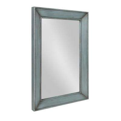 Yuda Wooden Wall Mirror Other Blue