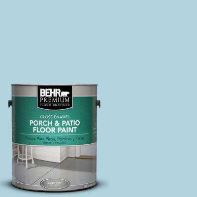 1 gal. #PFC-56 Pools of Blue Gloss Interior/Exterior Porch and Patio Floor Paint