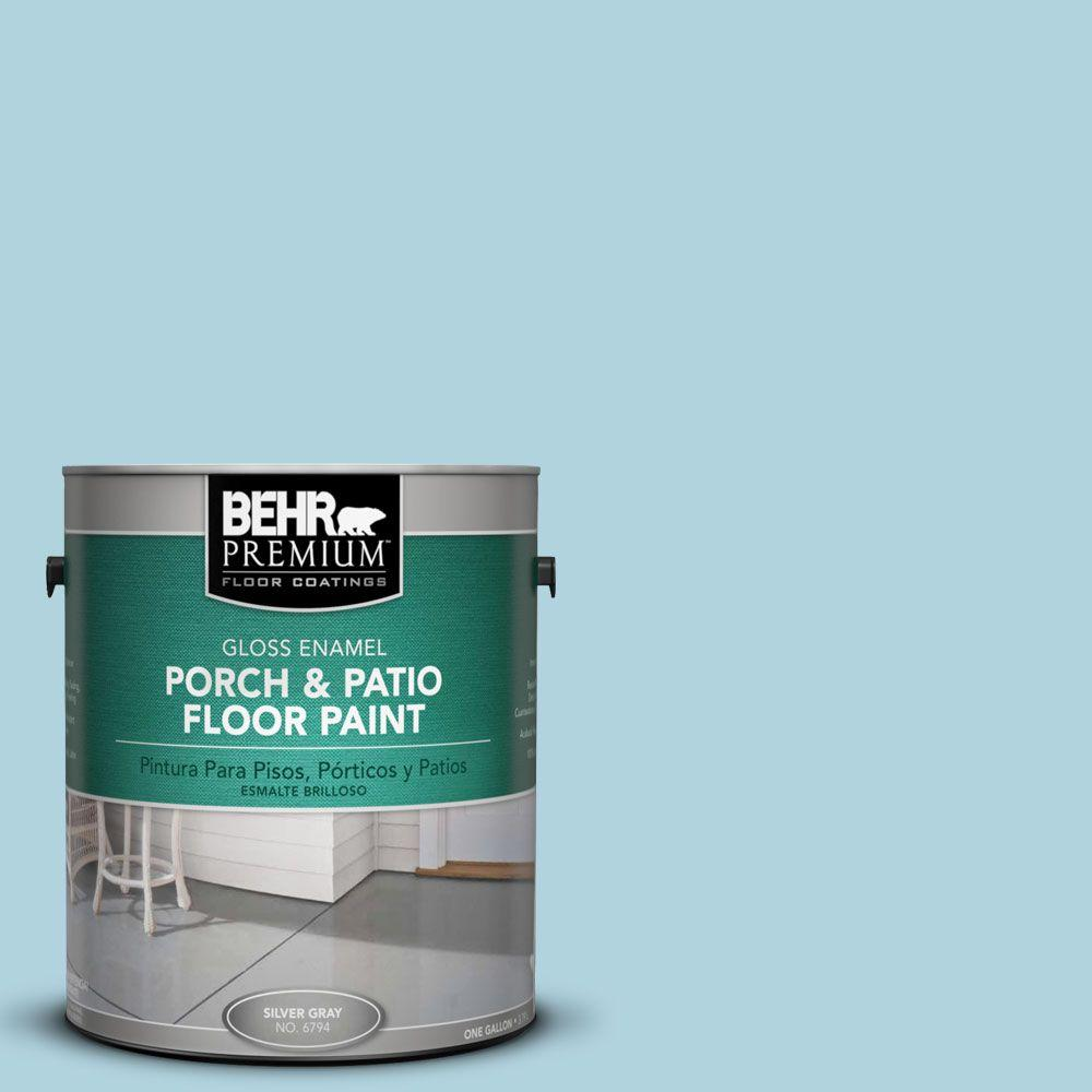 Behr Premium 1 Gal Pfc 56 Pools Of Blue Gloss Porch And