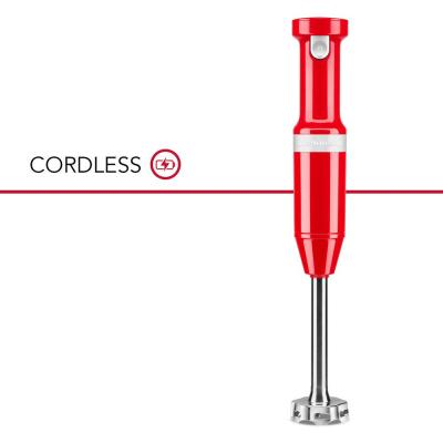 Cordless Variable Speed Passion Red Hand Blender