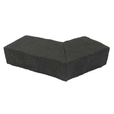 Sandstone Charcoal 6.25 in. x 4.25 in. Faux Stone Ledger Outside Corner (2-Pack)