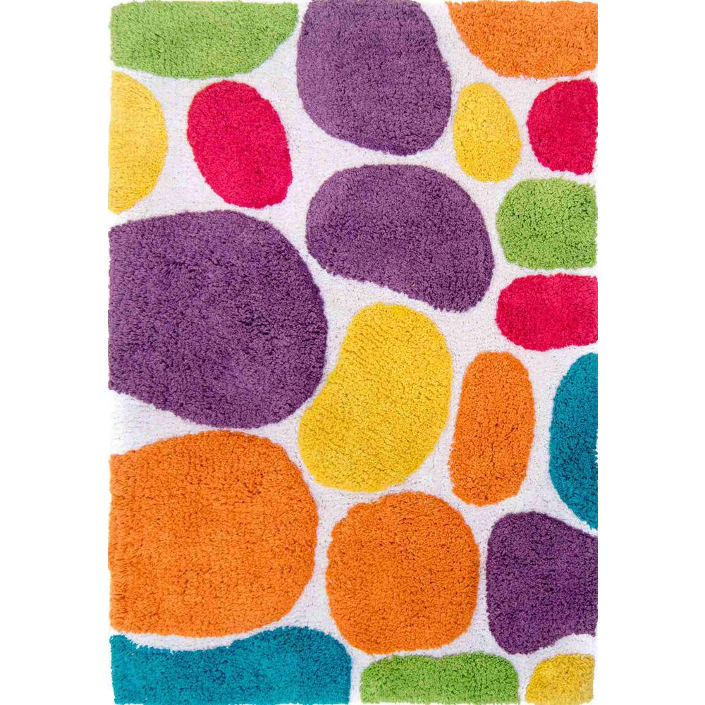 Fabulous Chesapeake Merchandising Pebbles Brights Rainbow Multi 2 Ft X 3 Ft Indoor Bath Rug Home Interior And Landscaping Ologienasavecom
