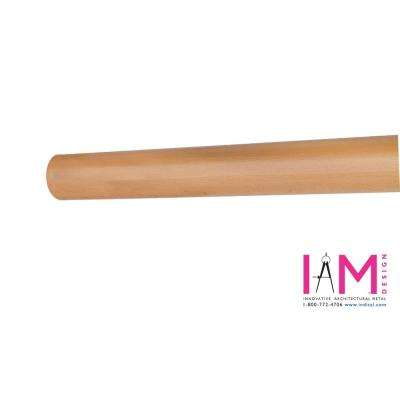 Wood Inox 6 ft. 7 in. Beech Wood Round Hand Rail