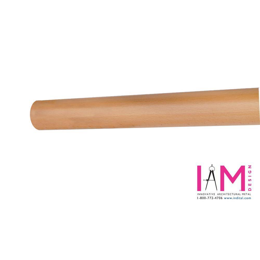 Wood Inox 6 ft. 7 in. Beech Wood Round Hand Rail