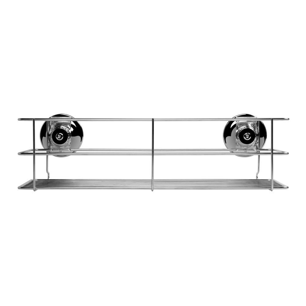 Chrome 15.75 in. x 6.18 in. Large Multi Purpose Shower Shelf