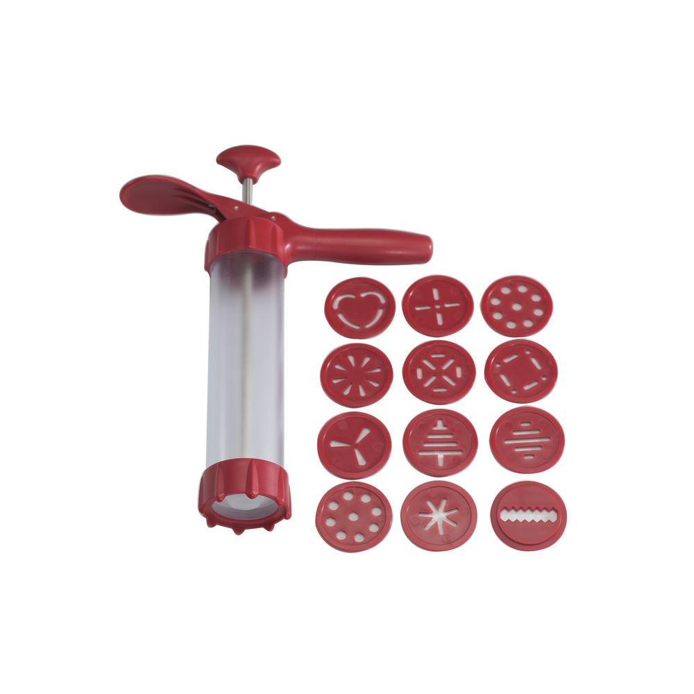 Nordic Ware 13-Piece Cookie Press with 12 Cookie Discs
