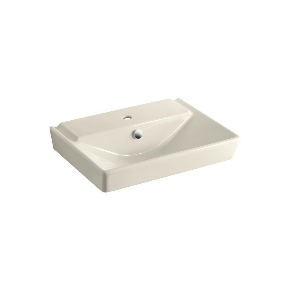 Kohler Reve 3 In Ceramic Pedestal Sink Basin In Almond