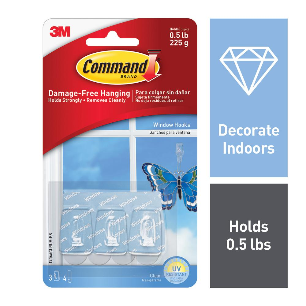 Command Small Clear Window Hook with Clear Strip (7-Piece per Pack)