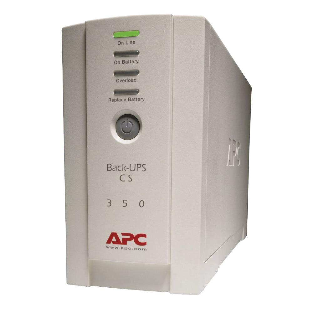 APC 350VA UPS Battery Backup The effects of power problems include keyboard lockup, complete data loss, hardware degradation, damaged motherboards, and more, making downtime inevitable. An APC Back-UPS ES 350VA instantly switches your computer to emergency battery backup power and allows you to work through brief power outages or to shut down your system in the event of an extended outage. High-performance surge suppression protects your computer from electrical noise and damaging power surges - even lightning.