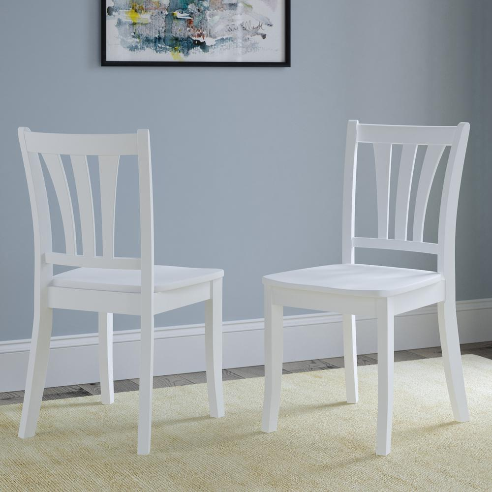 CorLiving Dillon White Solid Wood Curved Vertical Salt Backrest Dining  Chairs (Set of 9)-DSH-9-C - The Home Depot