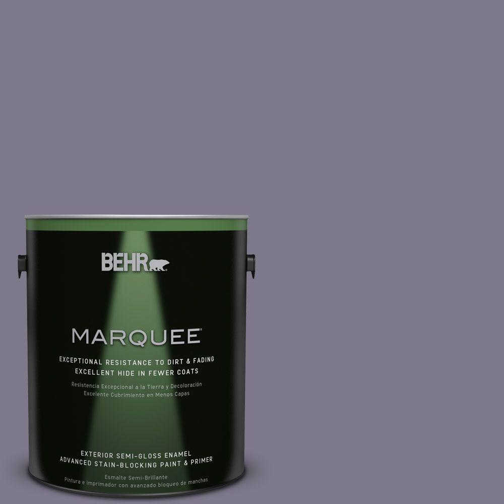 BEHR MARQUEE 1-gal. #N560-5 Solitaire Semi-Gloss Enamel Exterior Paint