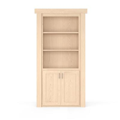 36 in. x 80 in. Flush Mount Assembled Laundry Door Maple Unfinished Left-Hand Inswing
