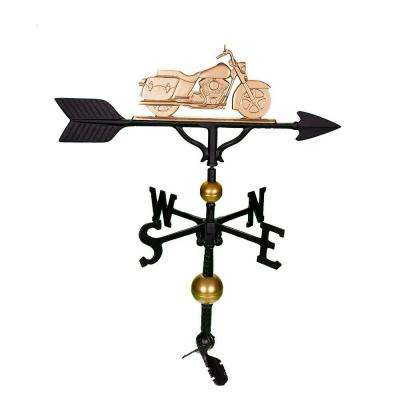 32 in. Deluxe Gold Motorcycle Weathervane
