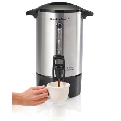 45-Cup Stainless Steel Coffee Urn with One-Handed Dispensing