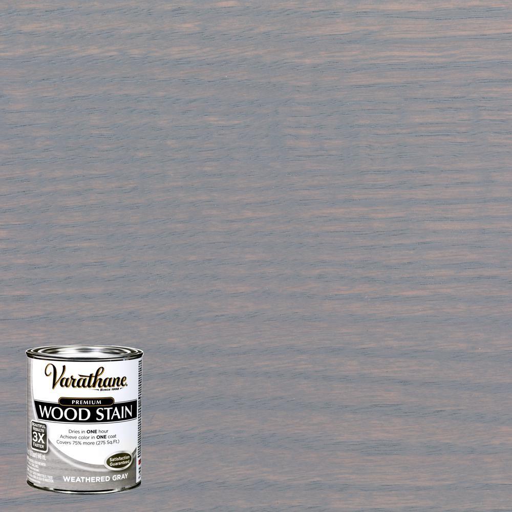 Varathane 1 qt. Weathered Gray Premium Fast Dry Interior Wood Stain