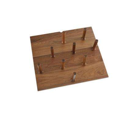 Small 24 in. x 21 in. Wood Peg Board System with (9-Pegs)