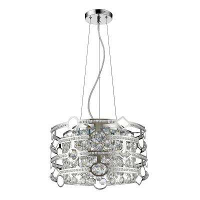 Meghan Indoor 5-Light Chandelier with Crystal in Polished Nickel