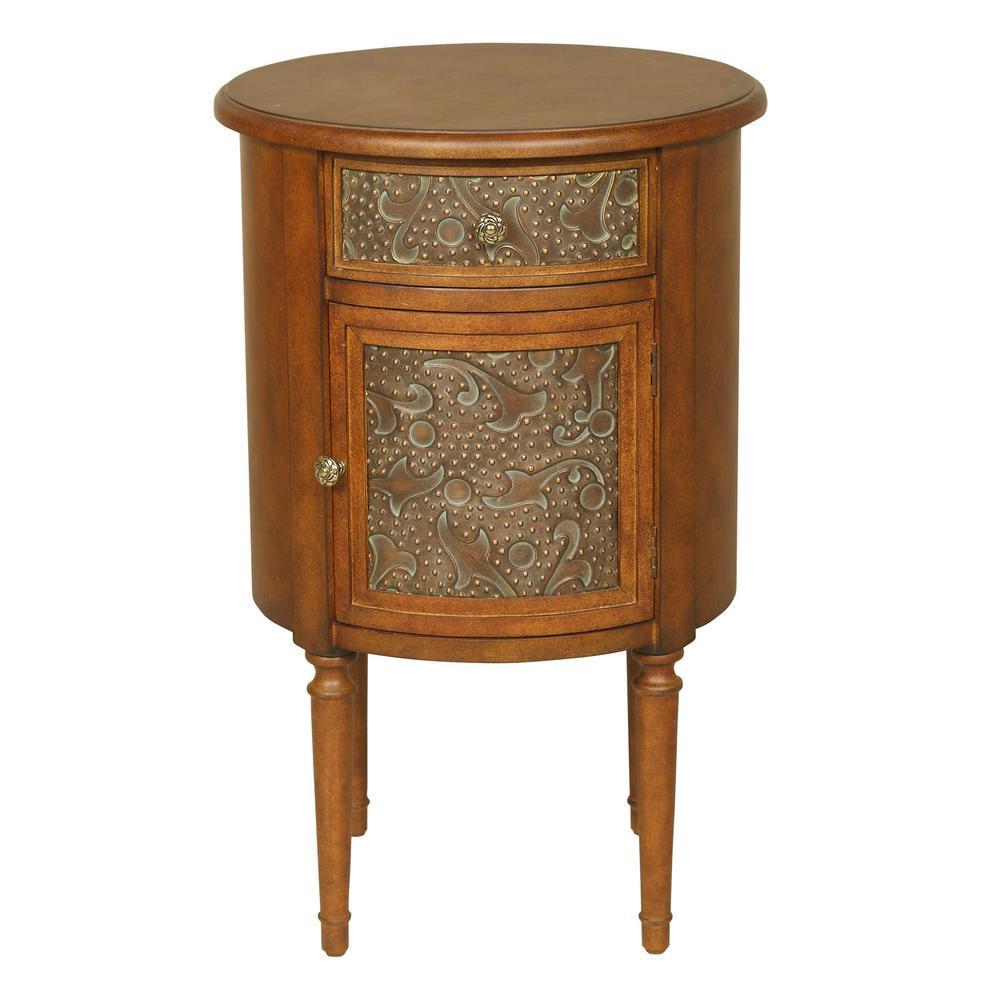 Walnut Round Side Table