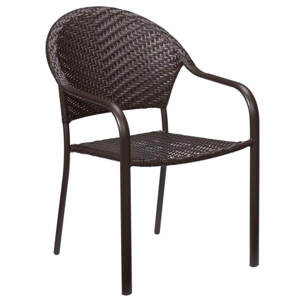 Brown Stackable Wicker Outdoor Dining