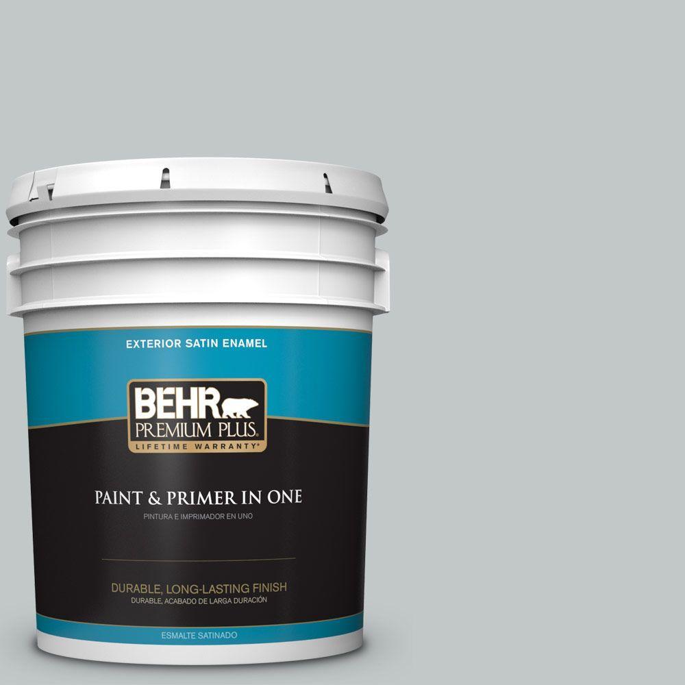 BEHR Premium Plus 5-gal. #N450-2 Zero Gravity Satin Enamel Exterior Paint