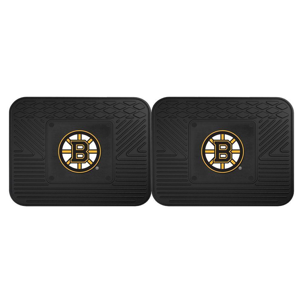 Fanmats Nhl Boston Bruins Black Heavy Duty 14 In X 17 In