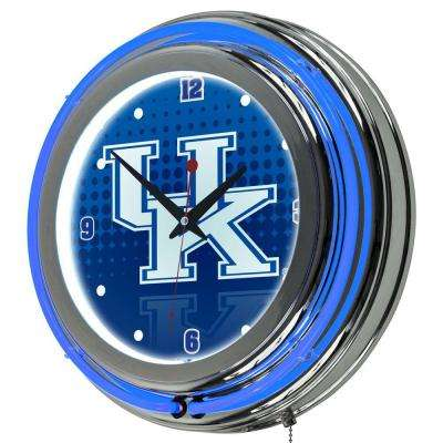 University of Kentucky 14 in. x 14 in. Reflection Round Neon Wall Clock