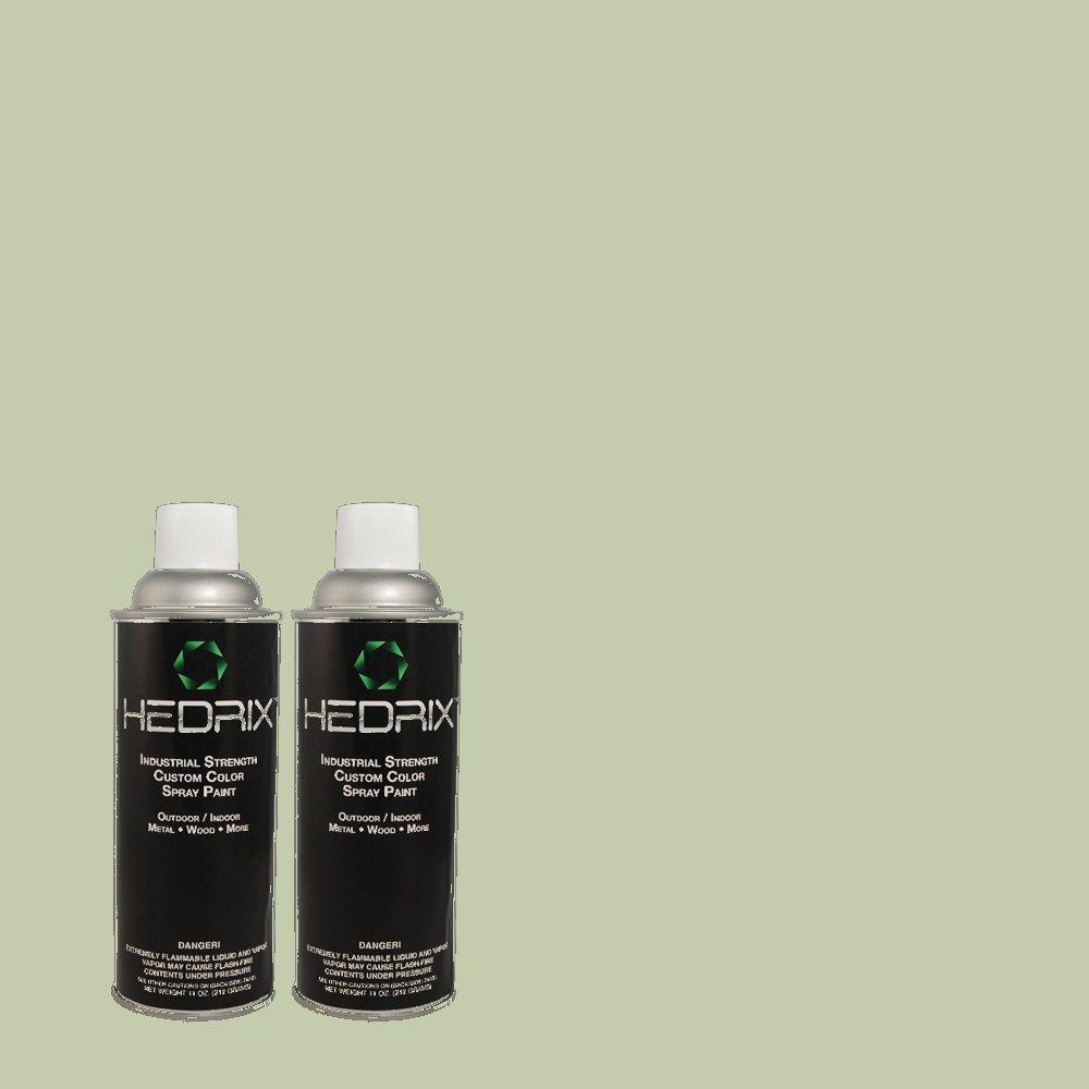 Hedrix 11 oz. Match of MQ6-45 Composed Semi-Gloss Custom Spray Paint (8-Pack)