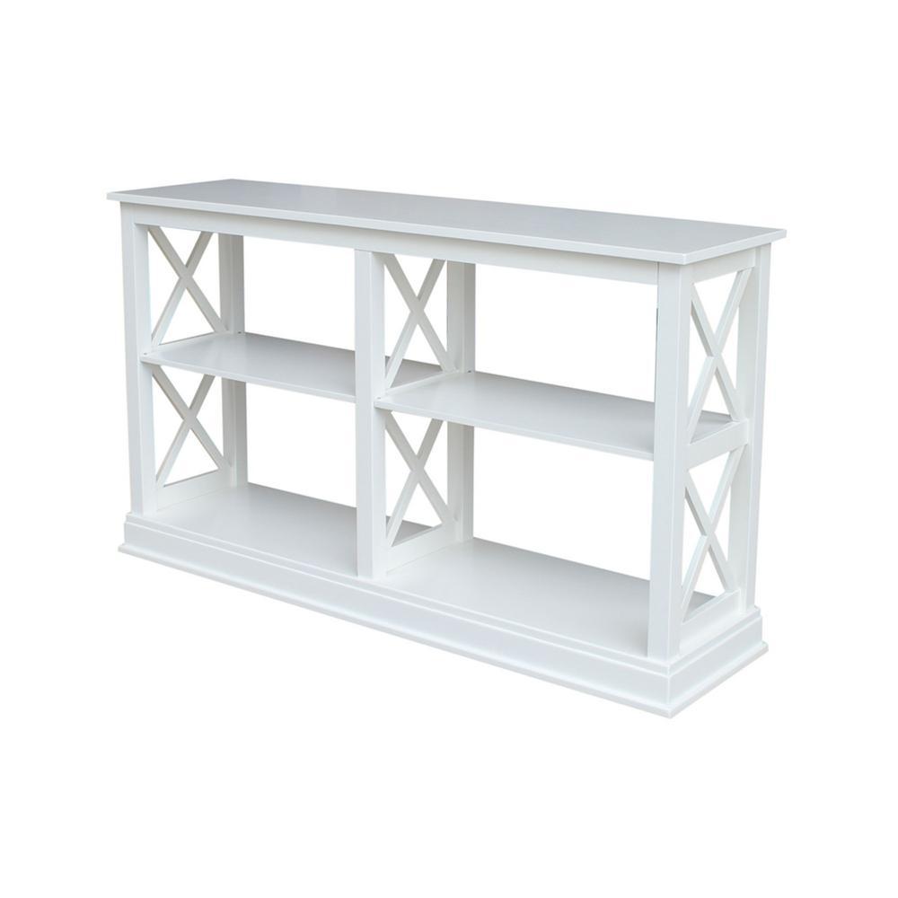 Hampton Pure White 60 in. W Console Table