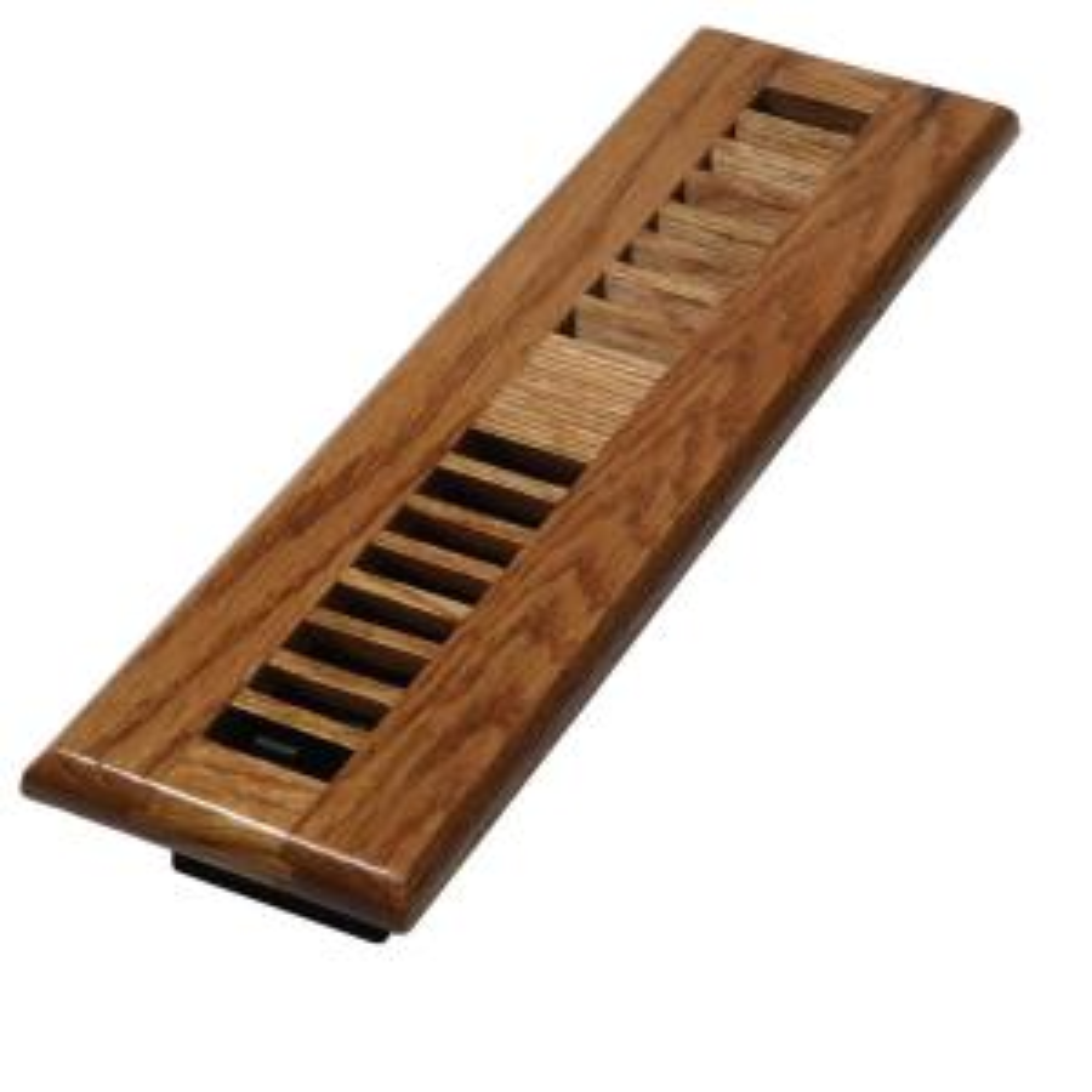 2 In X 12 In Medium Oak Wood Louvered Design Floor