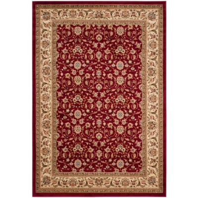 Lyndhurst Red/Ivory 6 ft. x 9 ft. Area Rug