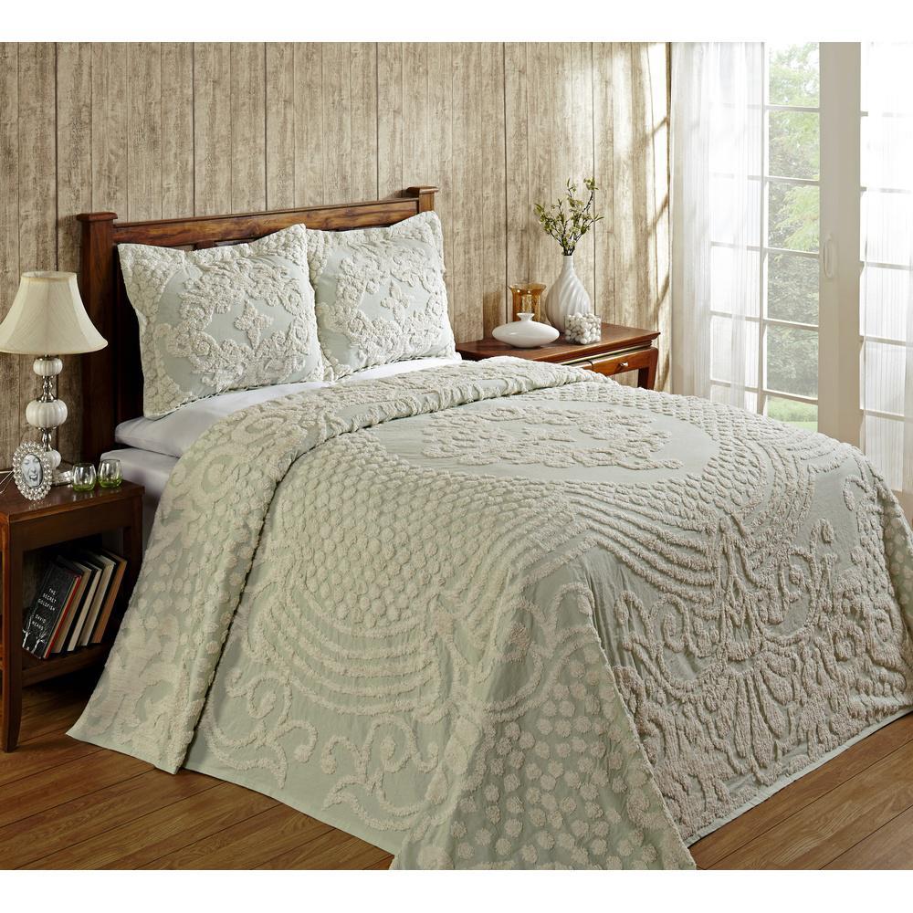 Florence 1-Piece Sage Queen Bedspread