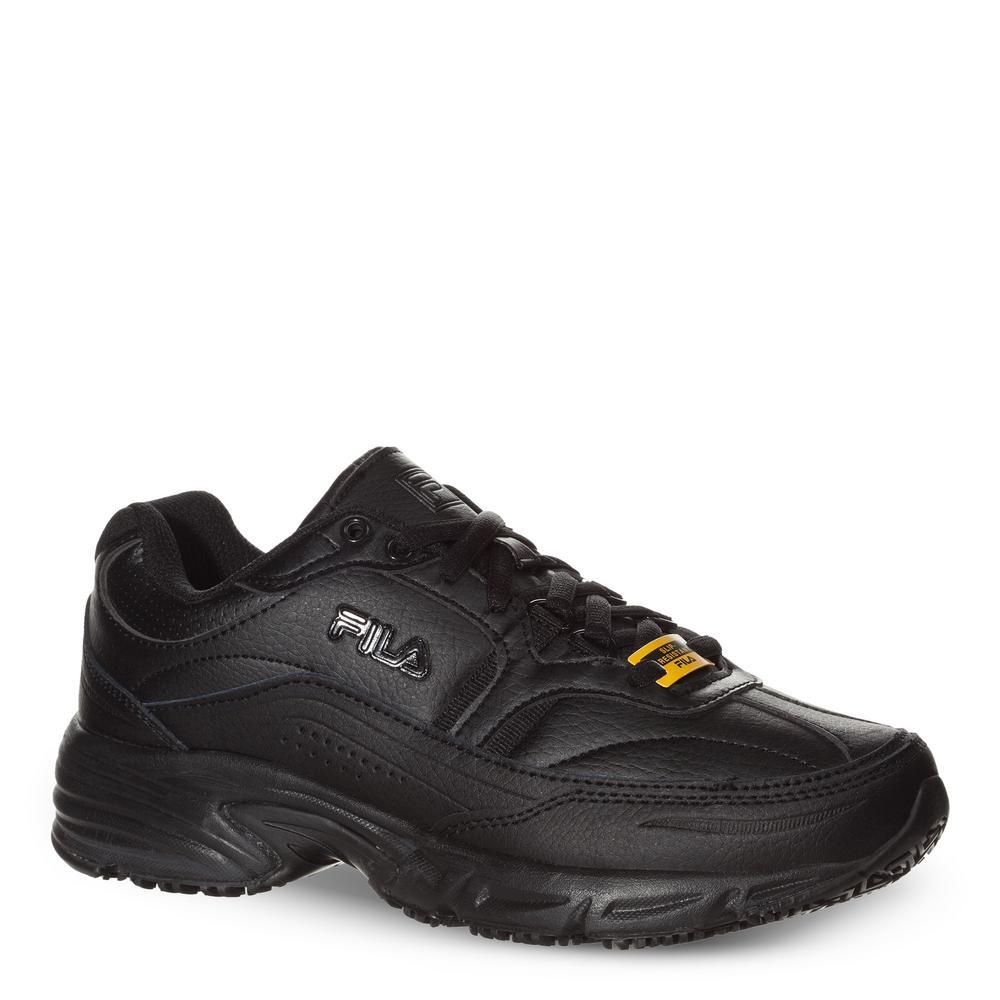 Fila Women's Memory Workshift Slip Resistant Athletic Shoes Soft Toe BLACK Size 9(W)