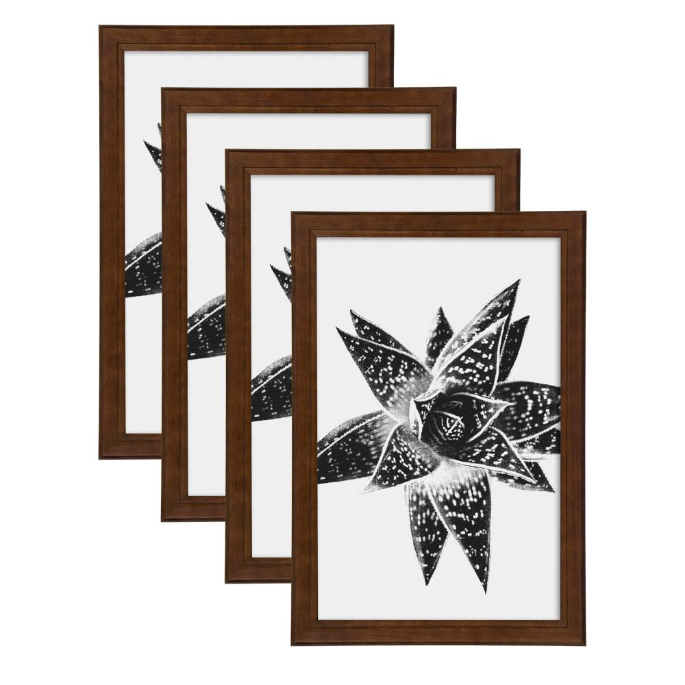 Designovation Kieva 11x17 Brown Picture Frame Set Of 4 213663
