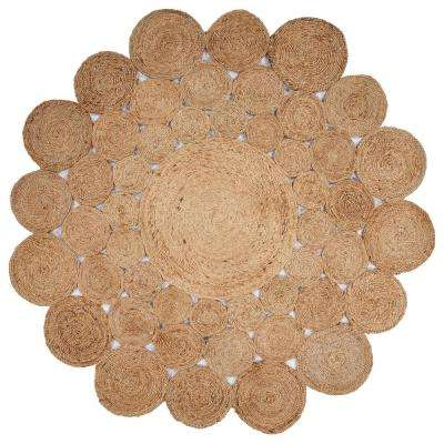 Natural Jute Natural 8 ft. x 8 ft. Round Indoor Area Rug