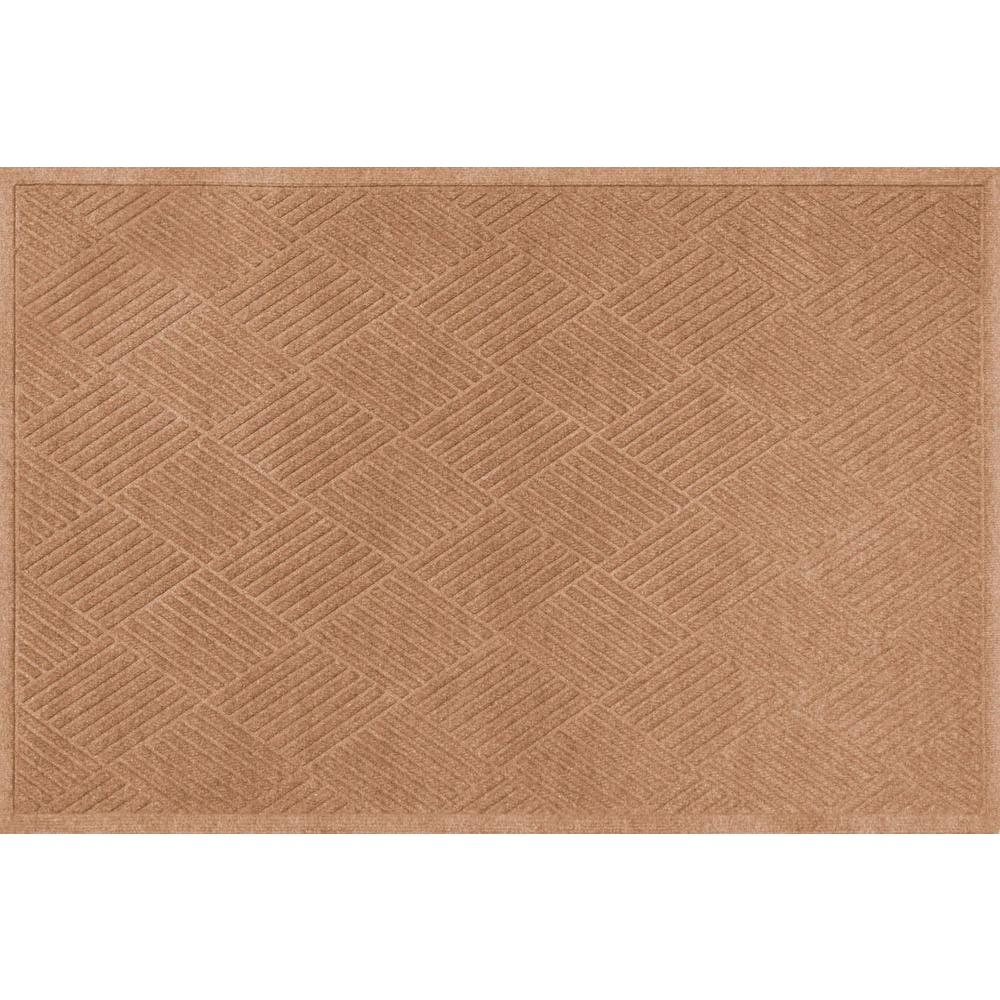 WaterGuard Diamonds Medium Brown 3 ft. x 5 ft. Polypropylene Mat