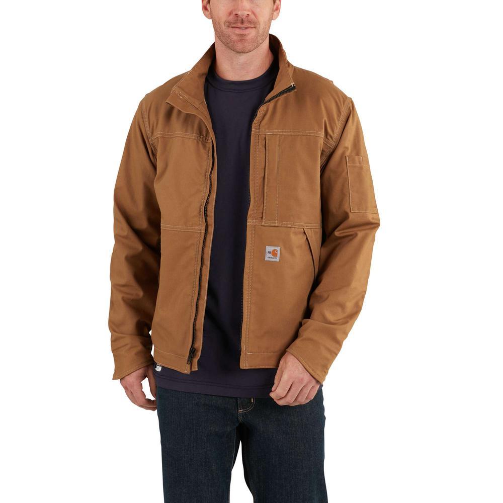 c6974a762a Carhartt Men s X-Large Brown FR Cotton Nylon FR Full Swing Quick Duck Jacket