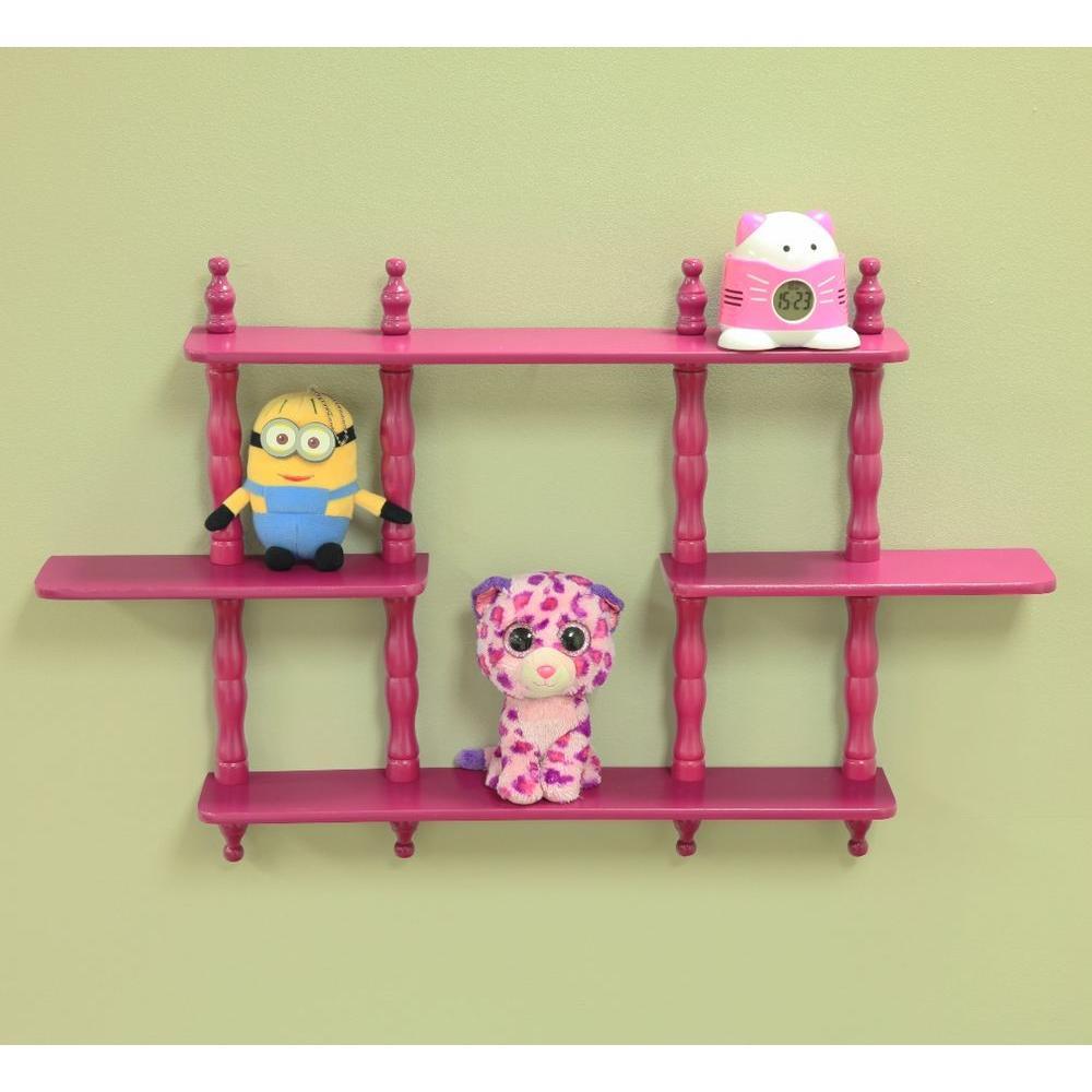 17-1/7 in. W x 3-1/2 in. D Wall Mounted Decorative Shelf in Purple