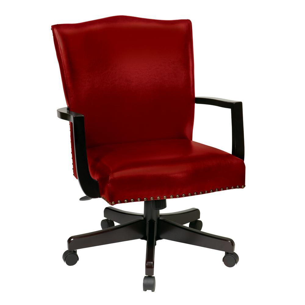 OSP Home Furnishings Morgan Crimson Managers Chair BP-MGTC-EC19