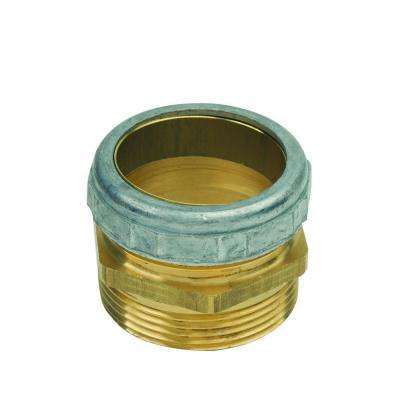 1-1/2 in. O.D. Comp x 1-1/2 in. MIP (1-1/2 in. I.D. Fem Sweat) Brass Waste Connector with Die Cast Nut in Rough Finish