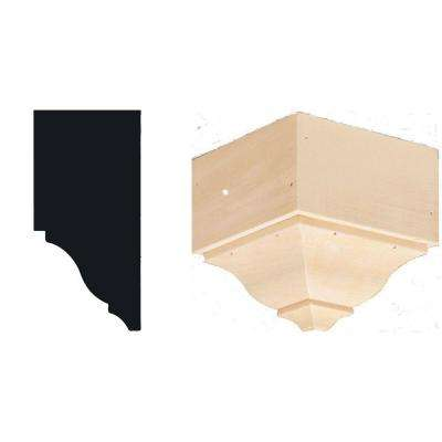 4-1/4 in. x 4-1/4 in. x 4-3/8 in. Hardwood Outside Crown Corner Block Moulding
