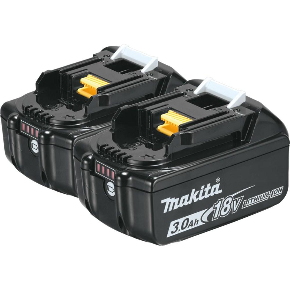 makita 18 volt lxt lithium ion high capacity battery pack 3 0ah with fuel gauge 2 pack bl1830b. Black Bedroom Furniture Sets. Home Design Ideas
