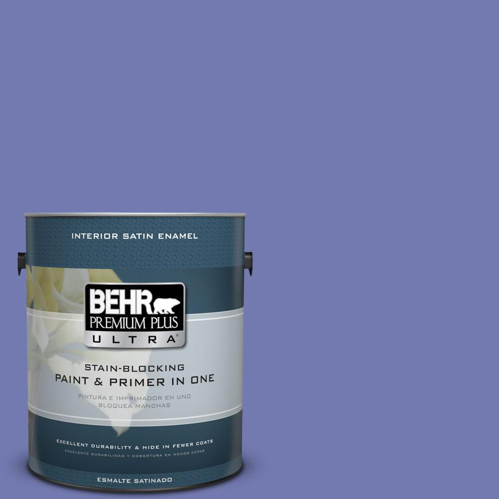 BEHR Premium Plus Ultra 1-gal. #620B-6 Magic Moment Satin Enamel Interior Paint
